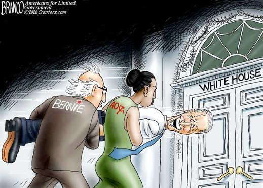 bernie sanders aoc soviet using joe biden to break into white house