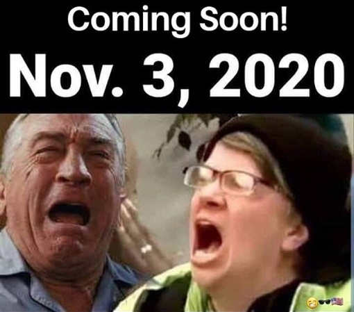 coming soon november 3rd 2020 dineiro liberal screaming