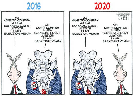 democrats republics 2016 vs 2020 supreme court nominations election year