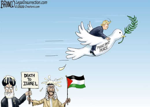 donald trump middle east peace dove iran palestine death to israel