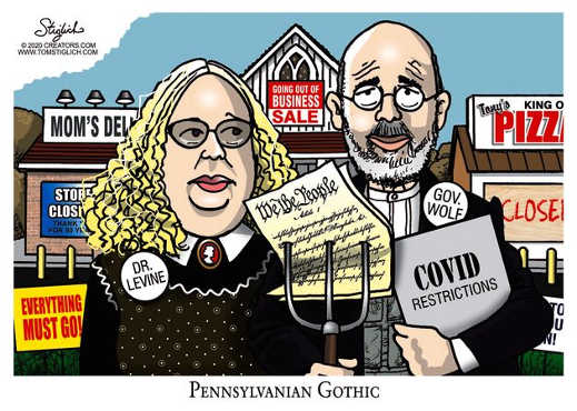 dr levine governor wolf covid restrictions put out of business