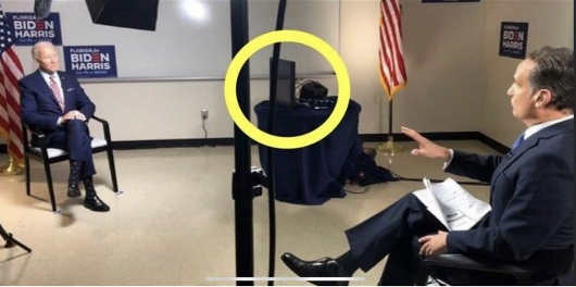 joe biden interview teleprompter answers