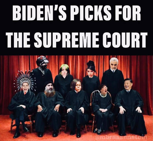 joe bidens picks for supreme court warren michelle obama china iran cardi b liberal screaming