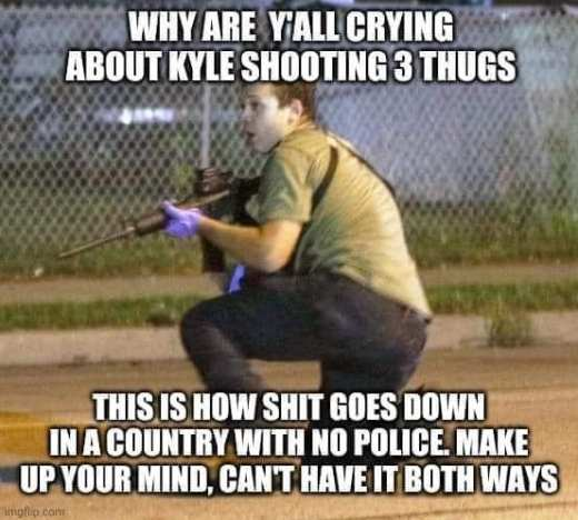 kyle rittenhouse how shit goes down with no police make up your mind