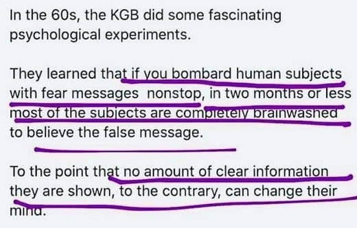 lesson kgb 60s psychological experiments brainwashing believe false message