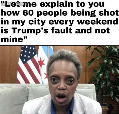 lori lightfoot let me explain people shot in chicaco all trumps fault