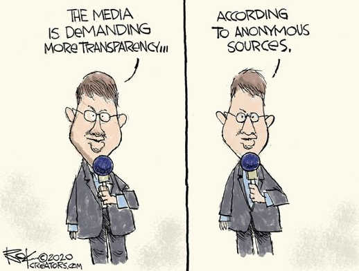 media is demanding more transparency according to anonymous sources