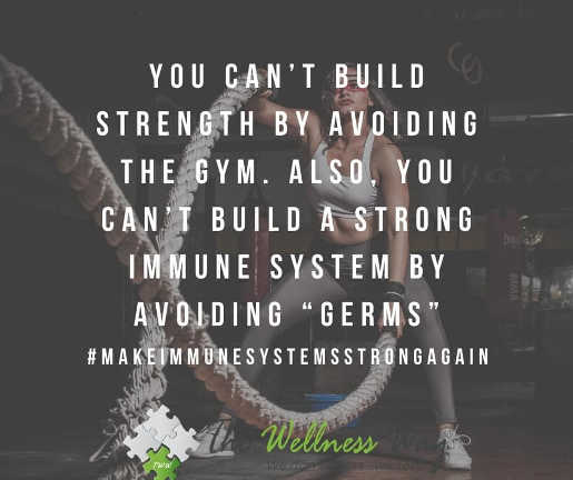 message cant build strength avoiding gym immune system germs