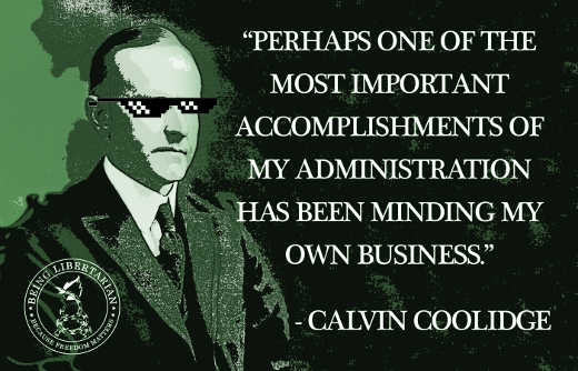 quote calvin coolidge most important accomplishment minding my own business