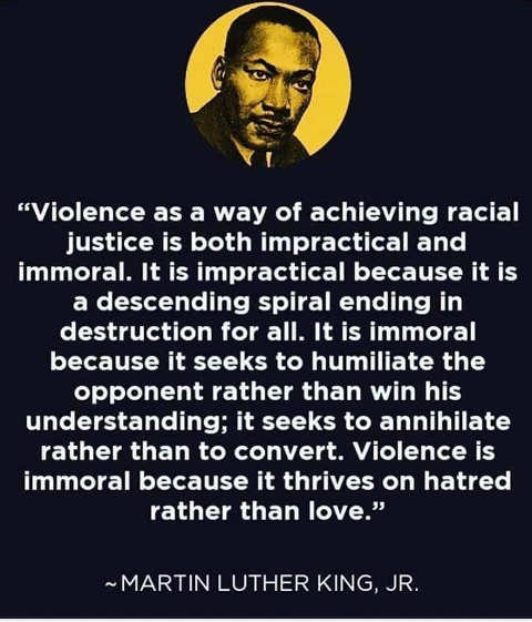 quote martin luther kind violence as way of achieving racial justice