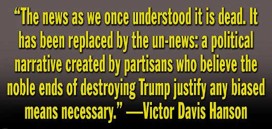 quote victor david hanson news been replaced narrative noble to destroy trump