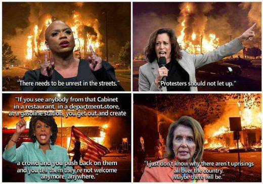 quotes kamala harris nancy pelosi maxine waters pressley callingf for violence