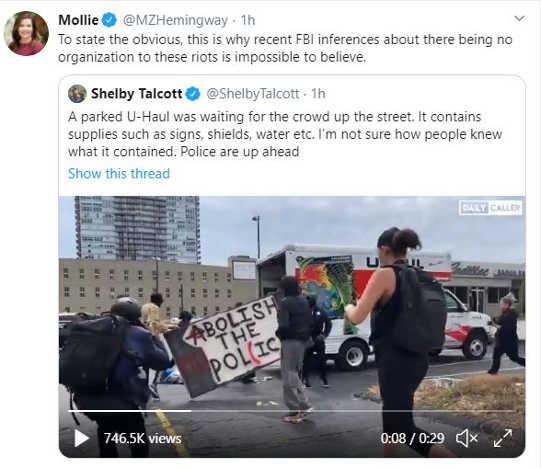 tweet molly state truth uhaul organized rally fbi