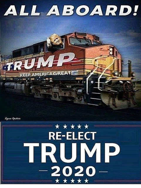 all aboard trump train 2020