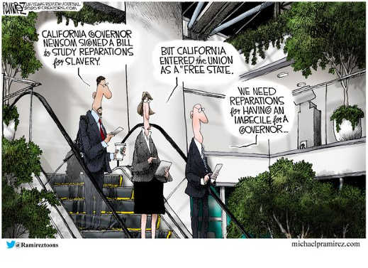 california free state union reparations for imbecile governor