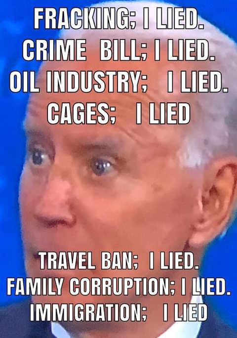 fact check joe biden fracking crime bill oil industry travel ban family corruption immigration i lied