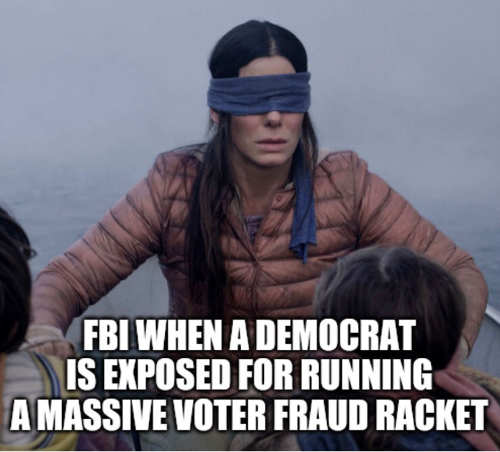 fbi blind birdbox when democrat voter fraud exposed