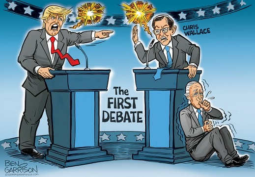 first debate trump vs chris wallace biden sucking thumb