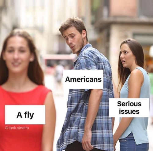 fly americans serious issue guy checking out girl