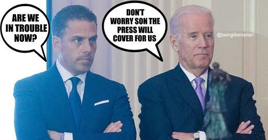 hunter biden are we in trouble dad joe dont worry press will cover for us