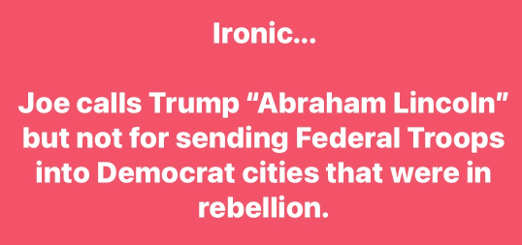 ironic joe biden calls trump abraham lincoln sending troops to democrat cities were in rebellion