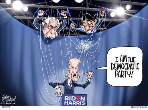 joe biden i am the democratic party aoc biden pulling puppet strings