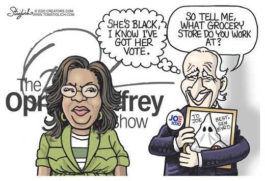 joe biden oprah black so got her vote what grocery store love senator byrd kkk