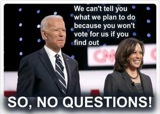 joe biden we cant tell you what we plan because you wont vote for us kamala harris