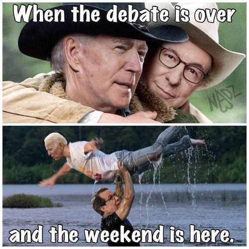 joe biden when debate over weekend here dirty dancing brokeback mountatin