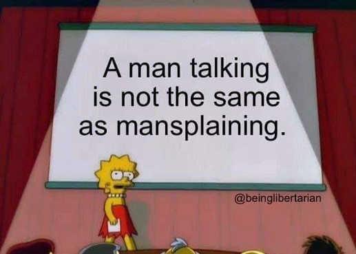 lisa simpson man talking not the same as mansplaining