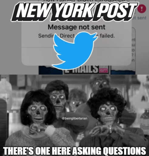 new york post twitter message not sent they live one here asking questions