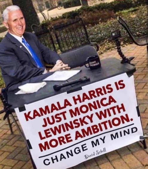 pence kamala harris just monica lewinsky with more ambition