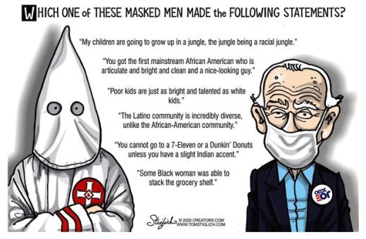 question which masked man made following statements joe biden vs kkk