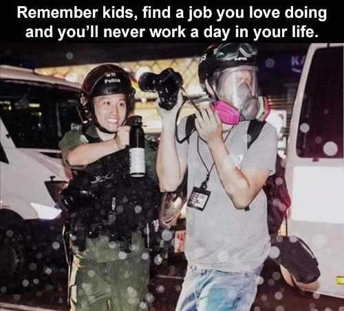 remember kids find job love never work day life cop pepper spray protector