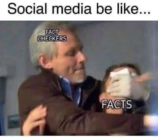 social media fact checkers choking facts