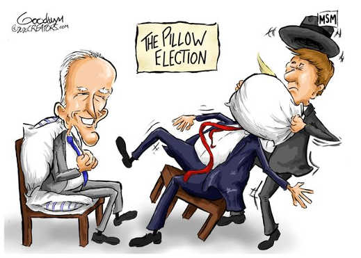 the pillow election mainstream media trump smothered biden winner