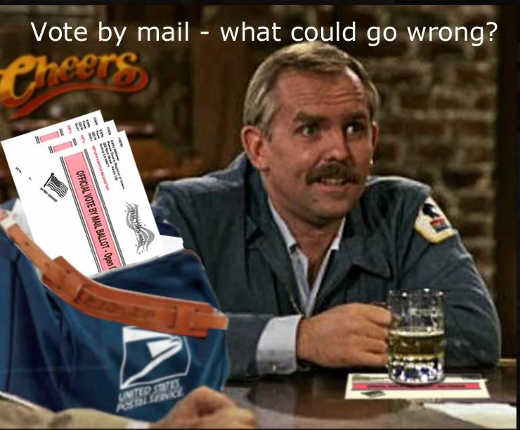 vote by mail what could go wrong cliff claven