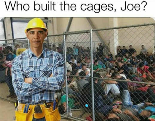 who built the cages children joe barack obama construction