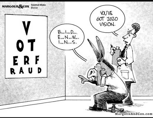 2020 vision eye chart voter fraud biden president
