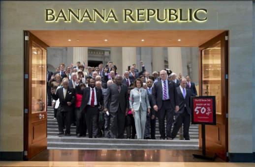 banana republic usa biden pelosi schumer nadler