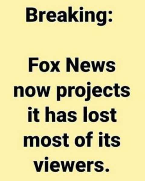 breaking fox news projects it has lost most of viewers