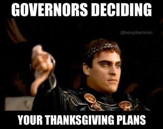 governors decidign your thanksgiving plans thumbs down