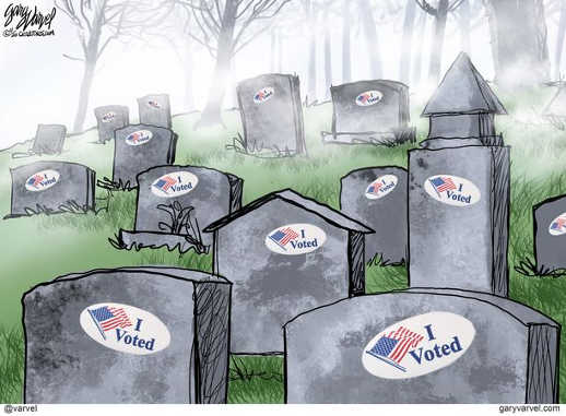 graveyard i voted stickers stones