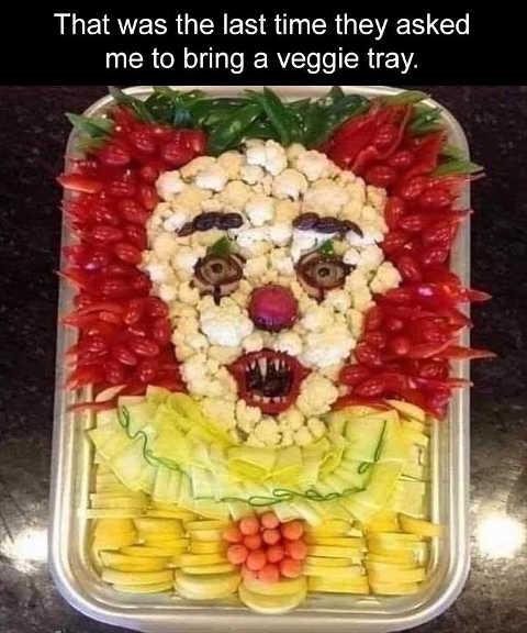 it clown veggie tray last time asked