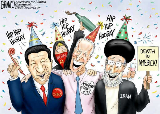 joe biden elected china antifa iran death to america hip hip hooray