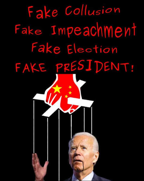 joe biden fake collusion impeaching election president chinese puppet