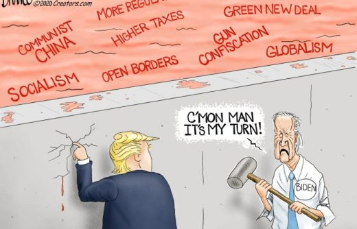 joe biden my turn tearing down trump wall open borders socialism china taxes green new deal