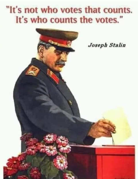 quote joseph stalin not who votes that counts its who counts the votes