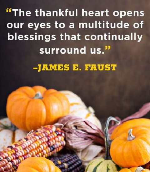 quote thankful heart opens eyes james faust