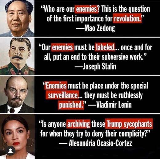 quotes mao stalin lenin punish enemies aoc trump supporters